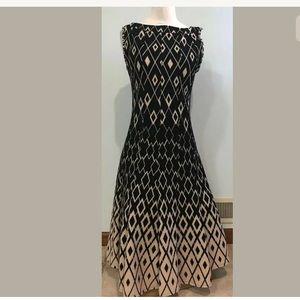 Haani Black Diamond Sleeveless Stretch Dress